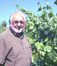 John Bree Snr in his Pinotage vineyard