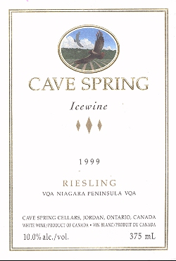 Cave Spring Cellars Ice Wine label