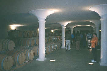 Inside Peller estate barrel ageing cellar